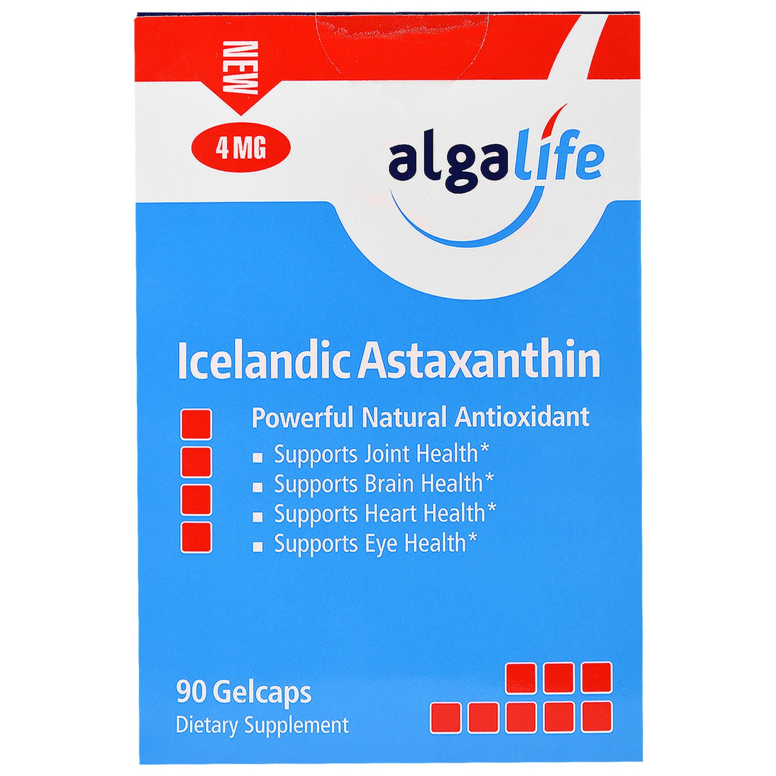 Algalife, Icelandic Astaxanthin, 4mg, 90 Gelcaps