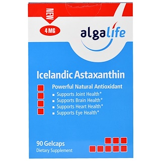 Algalife, Icelandic Astaxanthin, 4 mg , 90 Gelcaps