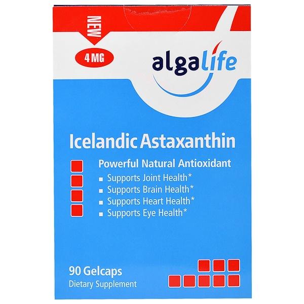 Algalife, Icelandic Astaxanthin, 4 mg , 90 Gelcaps (Discontinued Item)