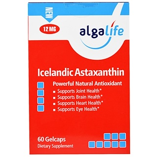 Algalife, Icelandic Astaxanthin, 12 mg , 60 Gelcaps
