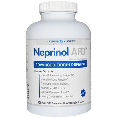 Neprinol AFD, защита организма от вредного воздействия фибрина, 500 мг, 300 капсул