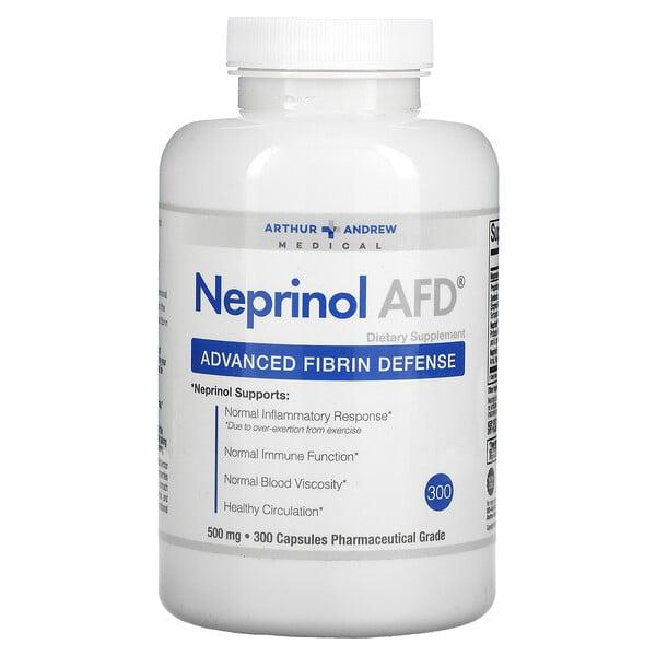 Arthur Andrew Medical, Neprinol AFD, Advanced Fibrin Defense, 500 mg, 300 Capsules