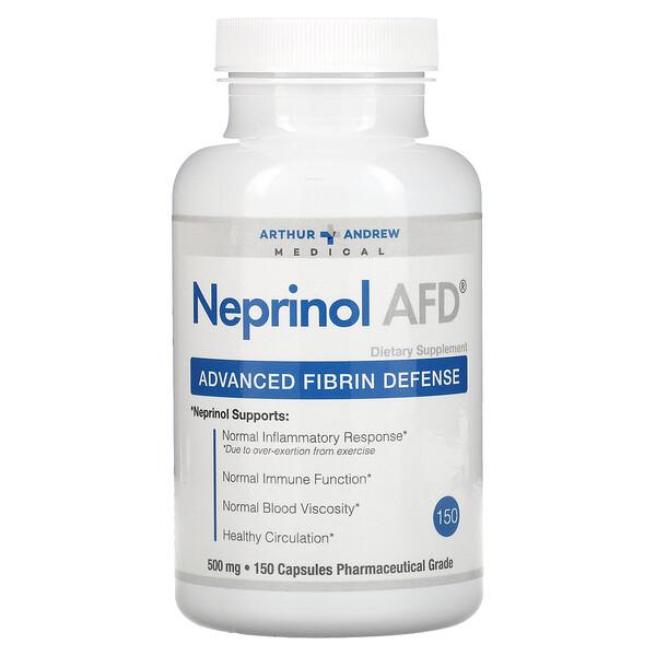 네프리놀 AFD, 고급 피브린 방어, 500 mg, 150 캡슐