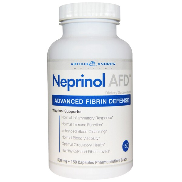Neprinol AFD, Advanced Fibrin Defense, 500 mg, 150 Capsules