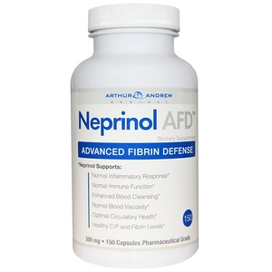 Arthur Andrew Medical, Neprinol AFD, Advanced Fibrin Defense, 500 mg, 150 Capsules отзывы покупателей