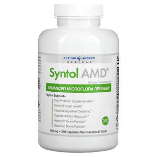 Arthur Andrew Medical, SyntolAMD, AdvancedMicrofloraDelivery, средство для здоровой микрофлоры, 500мг, 360капсул