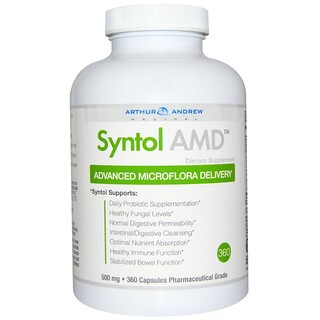 Arthur Andrew Medical, Syntol AMD、Advanced Microflora Delivery、500 mg、360カプセル