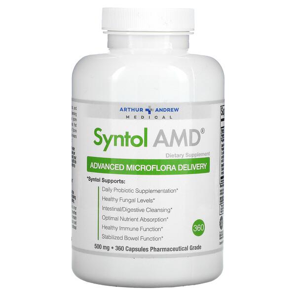 Syntol AMD, entrega avanzada de microflora, 500 mg, 360 cápsulas