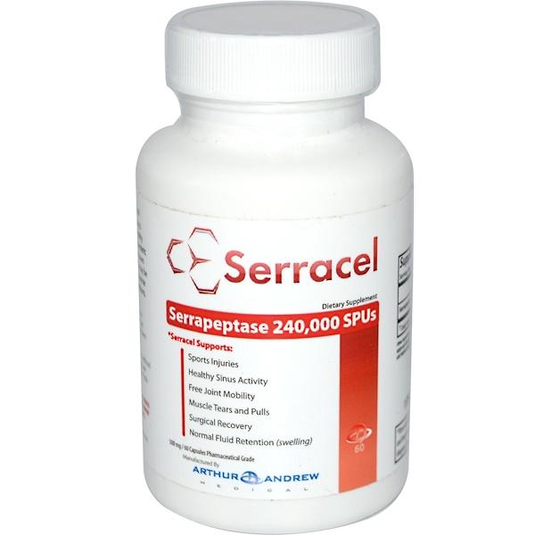 Arthur Andrew Medical, Serracel, 500 mg, 60 Capsules (Discontinued Item)