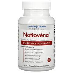 Arthur Andrew Medical, Nattovena,純 納豆激酶,200 毫克,90 粒膠囊
