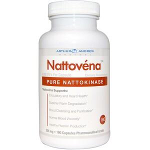 Arthur Andrew Medical, Nattovena, Pure Nattokinase, 200 mg, 180 Capsules отзывы