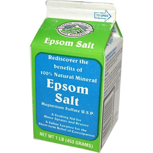 Aaron Industries, Epsom Salt, 1 lb (453 g) (Discontinued Item)