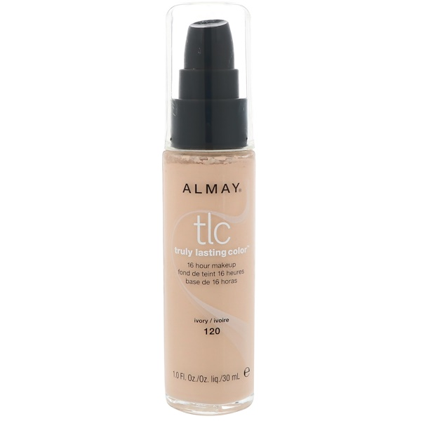Almay, Truly Lasting Color Makeup, 120 Ivory, 1.0 fl oz (30 ml) (Discontinued Item)