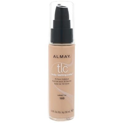 Almay Truly Lasting Color粉底,160裸色,1液量盎司(30毫升)