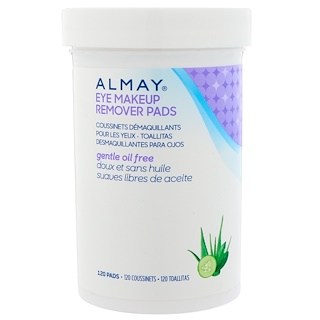 Almay, Eye Makeup Remover Pads, Gentle Oil Free , 120 Pads