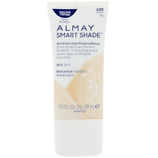 Almay, Smart Shade, Skintone Matching Makeup, SPF 15, 100 Light, 1 fl oz (30 ml)