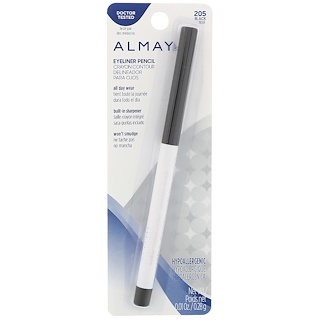 Almay, Eyeliner Pencil, 205, Black, 0.01 oz (0.28 g)