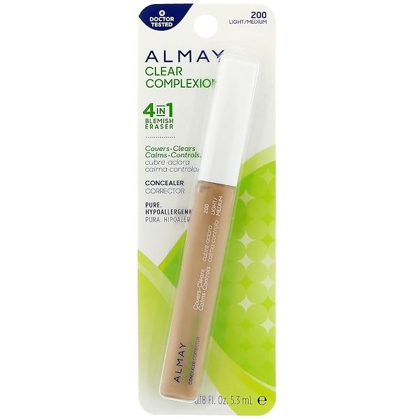 Almay, Clear Complexion Concealer, 200, Light/Medium, 0.18 fl oz (5.3 ml) (Discontinued Item)