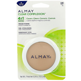 Almay, Clear Complexion Pressed Powder, 100, Light, 0.28 oz (8 g)