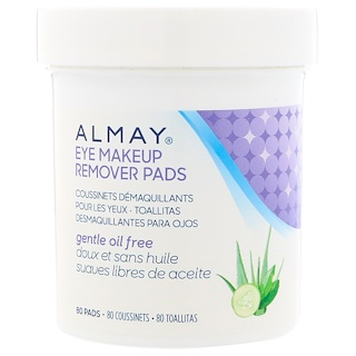 Almay, Eye Makeup Remover Pads, Gentle Oil Free, 80 Pads