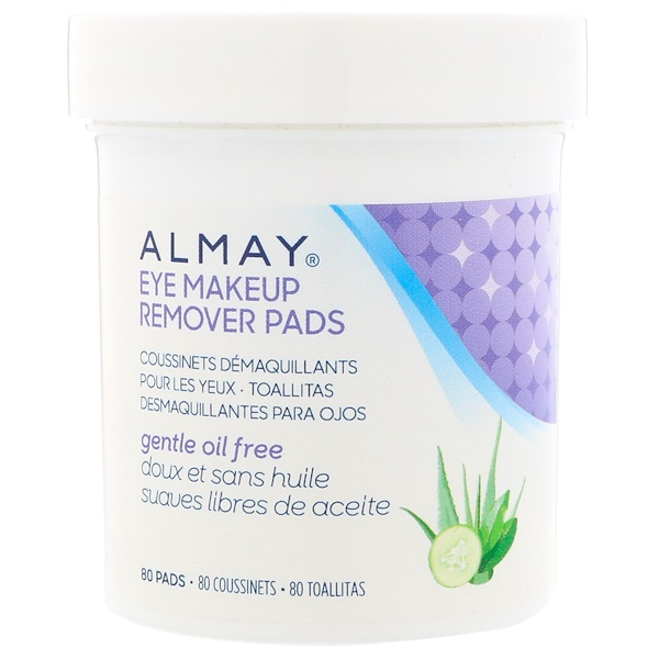 Almay, Eye Makeup Remover Pads, Gentle Oil Free, 80 Pads (Discontinued Item)