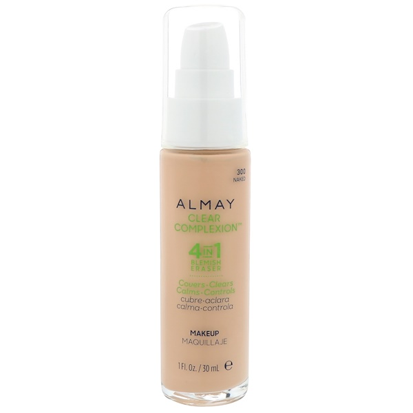 Almay, Clear Complexion Makeup, 300 Naked, 1 fl oz (30 ml) (Discontinued Item)