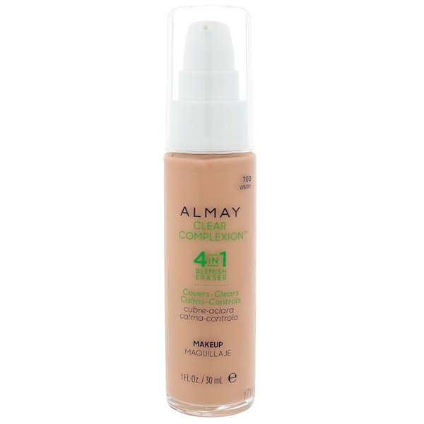 Almay, Clear Complexion Makeup, 700 Warm, 1 fl oz (30 ml) (Discontinued Item)