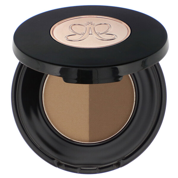 Brow Powder Duo, Dark Brown, 0.06 oz (1.6 g)