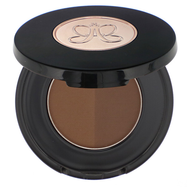 Anastasia Beverly Hills, Brow Powder Duo, Ebony, 0.06 oz (1.6 g) (Discontinued Item)