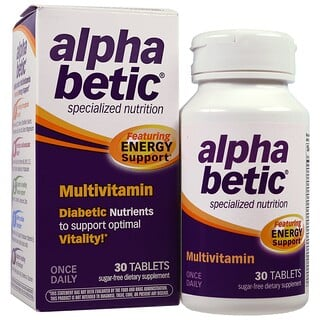 Abkit, Alpha Betic, Multivitamínico, 30 comprimidos