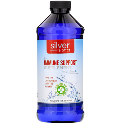 Silver Biotics, Daily Immune Support Supplement with SilverSol Technology, 16 fl oz (473 ml)