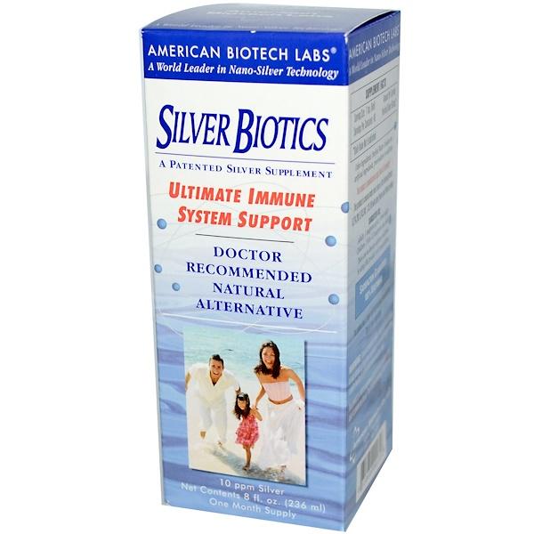 American Biotech Labs, Silver Biotics, 10 ppm Silver, 8 fl oz (236 ml) (Discontinued Item)