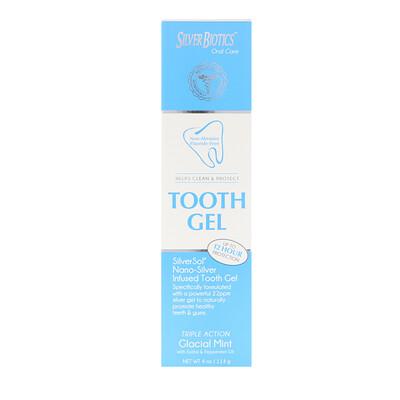 Купить American Biotech Labs SilverSol зубная паста, с ксилитом, ледяная мята, 4 жидких унций (118 мл)