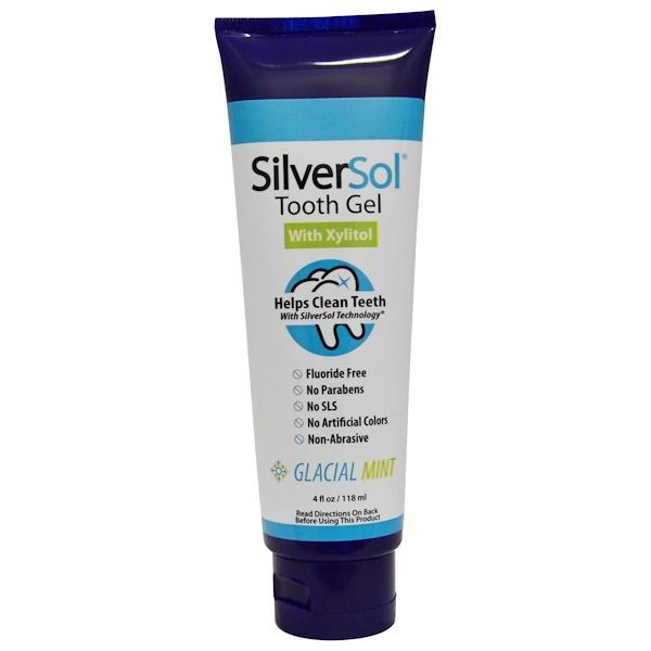 洗浴及美容口腔,牙齒保健木糖醇,口腔護理:American Biotech Labs, 銀基牙膠,木糖醇,冰川薄荷,4液體盎司(118毫升)