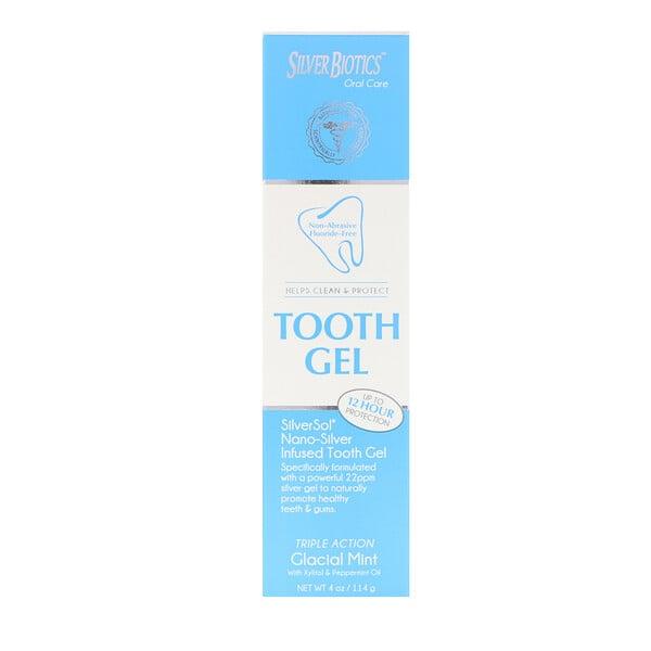 銀基牙膠,木糖醇,冰川薄荷,4液體盎司(118毫升)