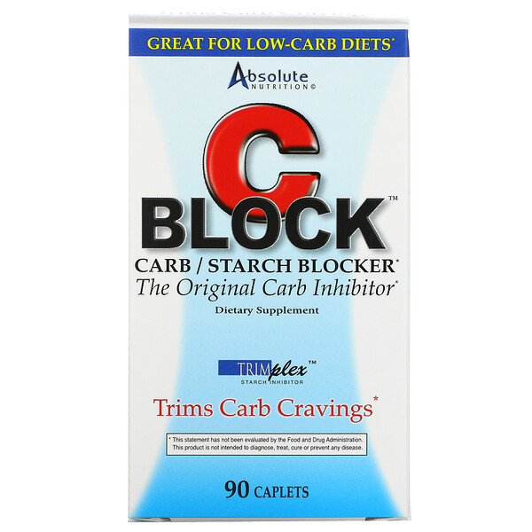 CBlock, Carb/Starch Blocker, 90 Caplets