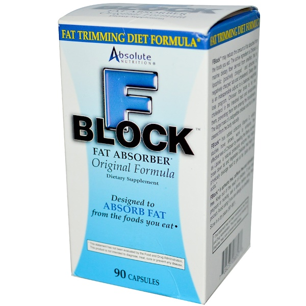 Absolute Nutrition, FBlock، ممتص الدهون، 90 كبسولة