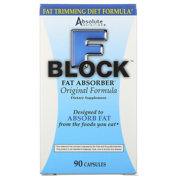 FBlock, Absorbente de Grasa, 90 Cápsulas