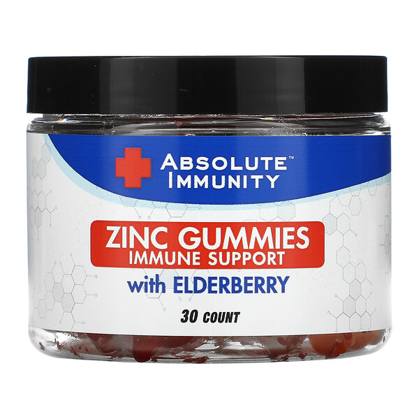 Absolute Immunity, Zinc Gummies with Elderberry, 30 Count