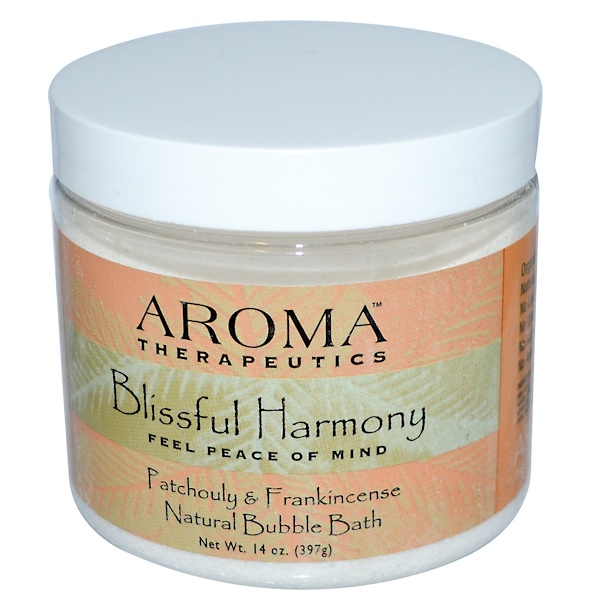 Abra Therapeutics, Natural Bubble Bath, Blissful Harmony, Patchouli & Frankincense, 14 oz (397 g) (Discontinued Item)