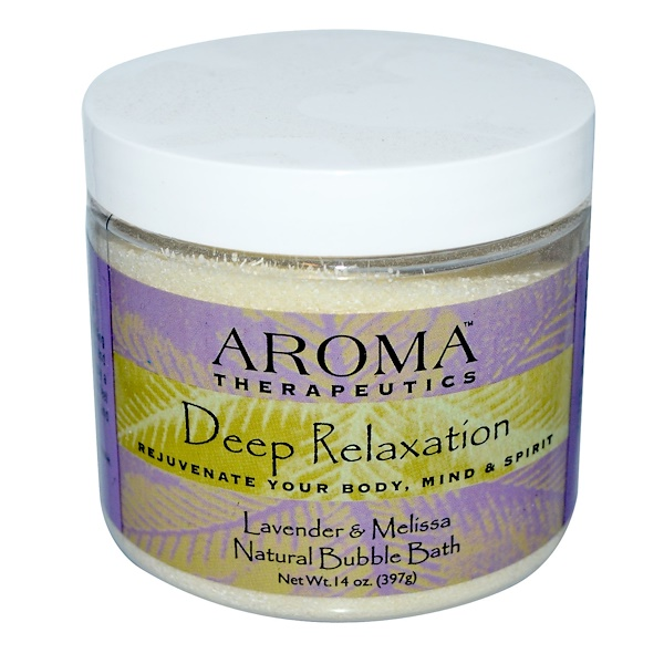 Abra Therapeutics, Natural Bubble Bath, Deep Relaxation, Lavender and Melissa, 14 oz (397 g) (Discontinued Item)