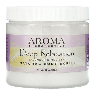 Abra Therapeutics, Natural Body Scrub, Deep Relaxation, Lavender and Melissa, 18 oz (510 g)