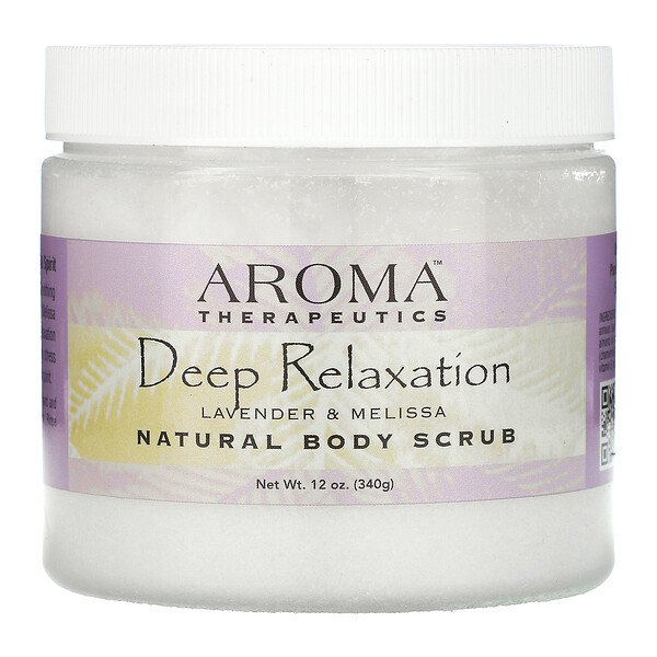 Abra Therapeutics, Natural Body Scrub, Deep Relaxation, Lavender and Melissa, 12 oz (340 g)
