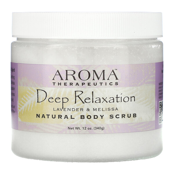 Natural Body Scrub, Deep Relaxation, Lavender and Melissa, 18 oz (510 g)
