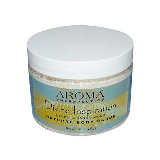 Abra Therapeutics, Natural Body Scrub, Divine Inspiration, Neroli & Sandalwood, 10 oz (283 g)