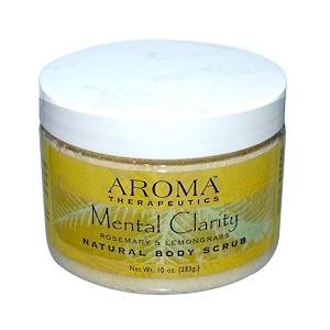 Абра Терапьютикс, Natural Body Scrub, Mental Clarity, Rosemary & Lemongrass, 10 oz (283 g) отзывы покупателей