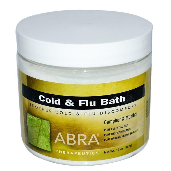 Abra Therapeutics, Cold and Flu Bath, Camphor & Menthol, 17 oz (482 g) (Discontinued Item)