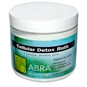 Abra Therapeutics, Ванна для детоксикации клеток, грейпфрут и можжевельник, 17 унций (482 г)