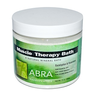 Abra Therapeutics, Muscle Therapy Bath, Eucalyptus & Rosemary, 17 oz (482 g)
