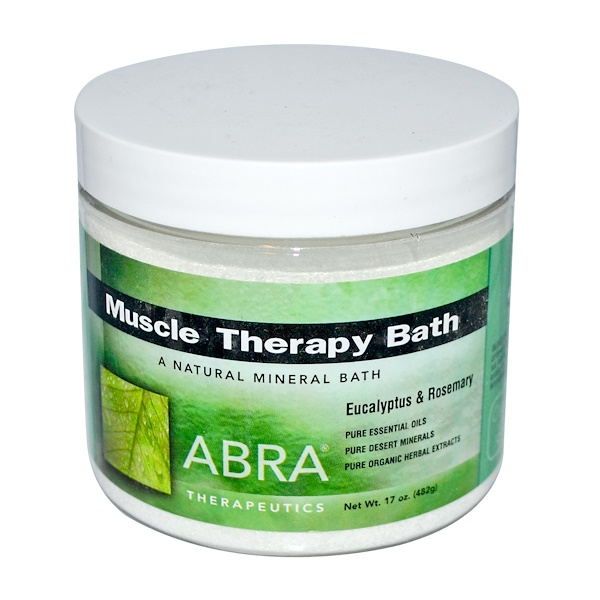 Abra Therapeutics, Muscle Therapy Bath, Eucalyptus & Rosemary, 17 oz (482 g) (Discontinued Item)